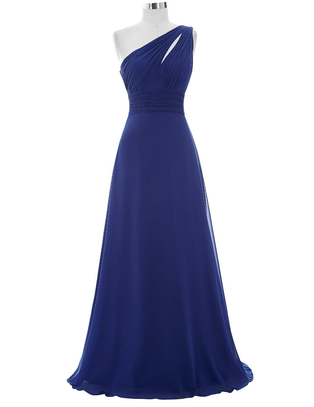 One Shoulder A-line Long Bridesmaid Dress