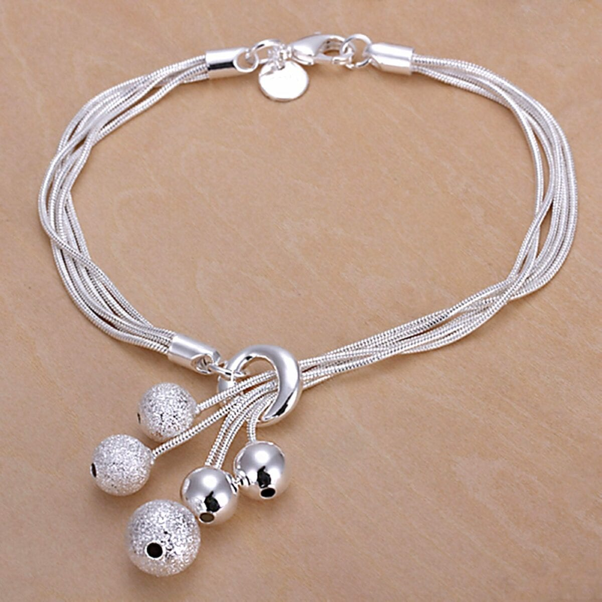 Silver Plated Small Beads Bracelet
