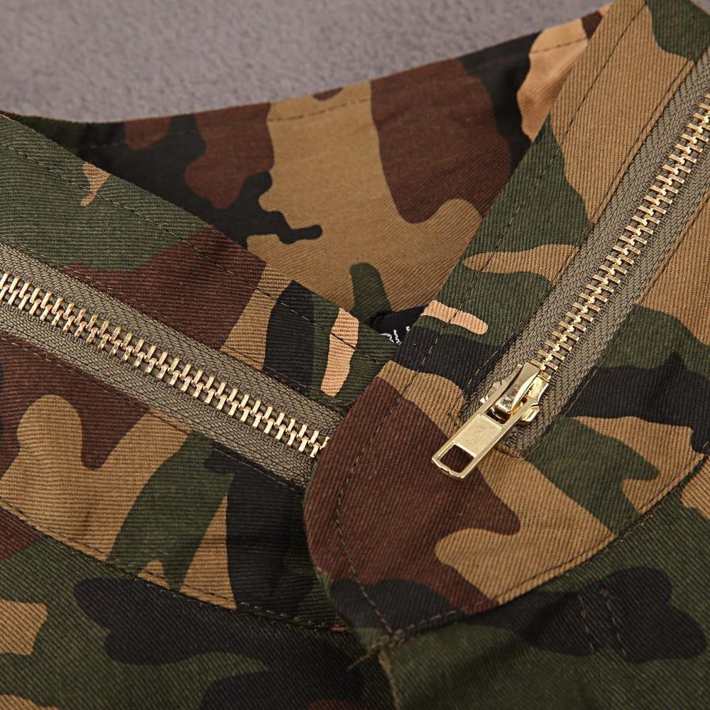 Loose Camouflage Print Jacket