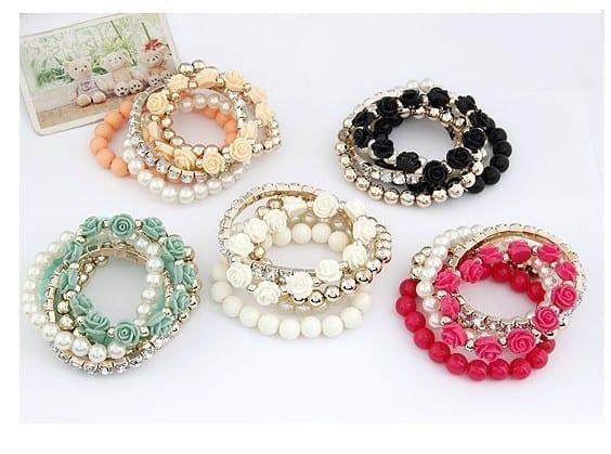 Cute Flower Charm Bracelet