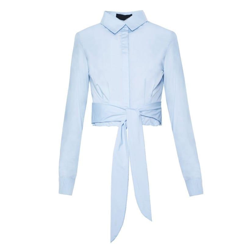 Long Sleeve Turn-down Collar Women Shirt