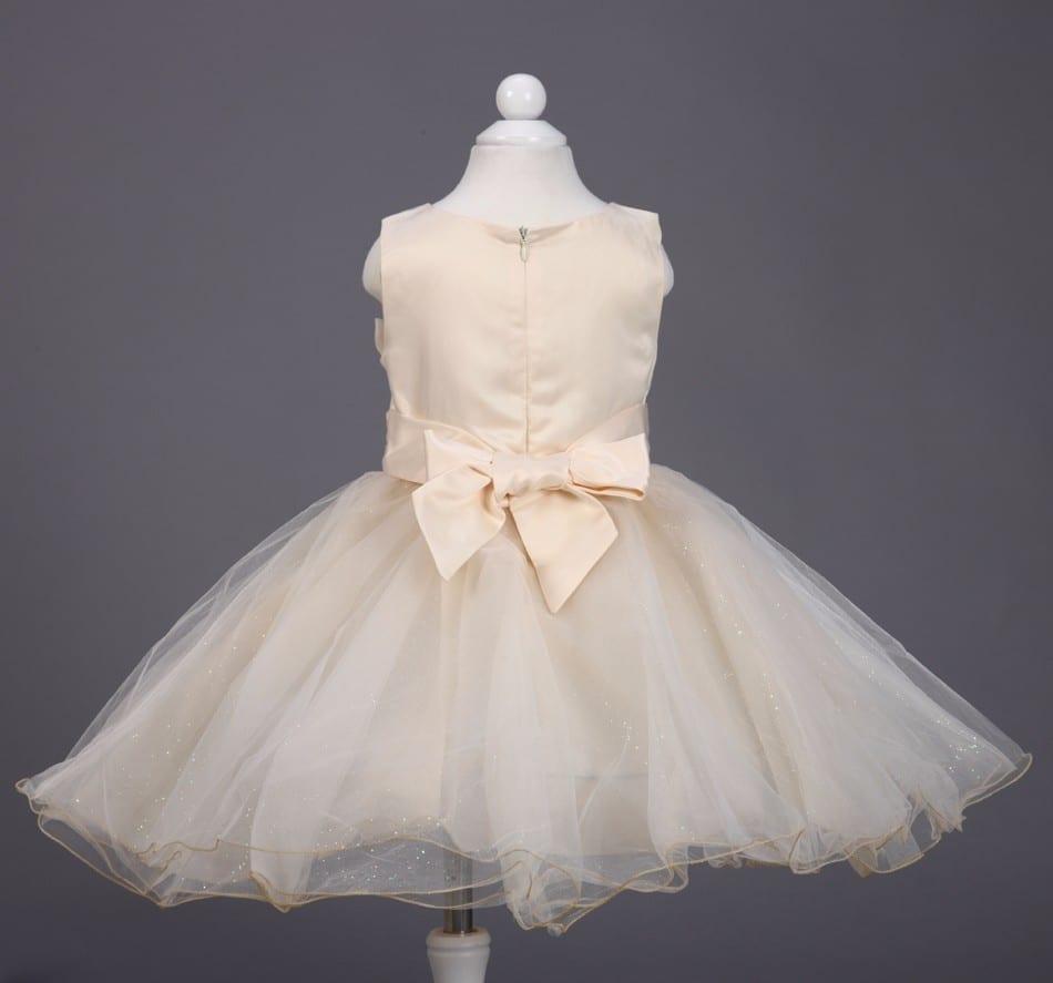 A-line Sleeveless Chiffon Bow Belt Princess Flower Girl Dress