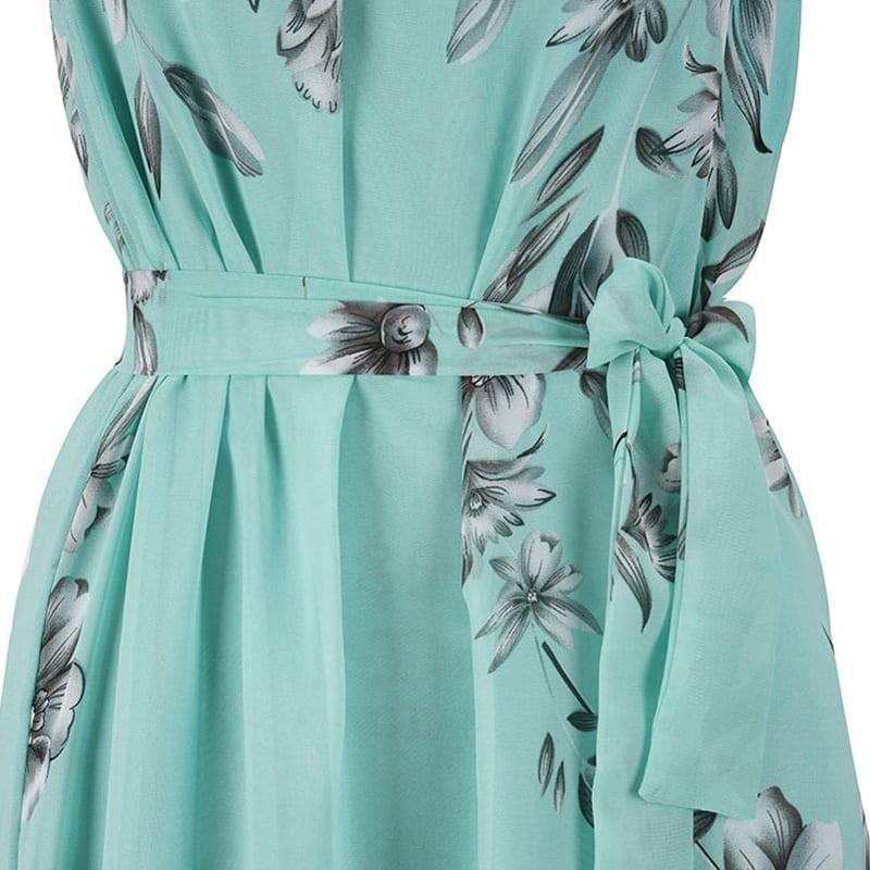 Boho Print Of The Shoulder Maxi Evening Party Beach Chiffon Dress