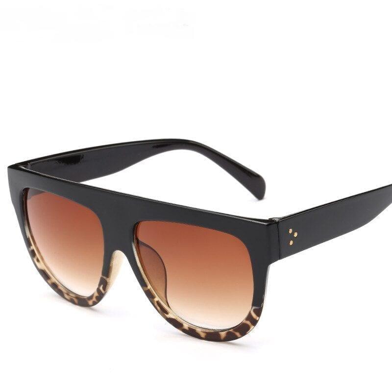 Oversize Retro Flat Top Cat Eye Glasses