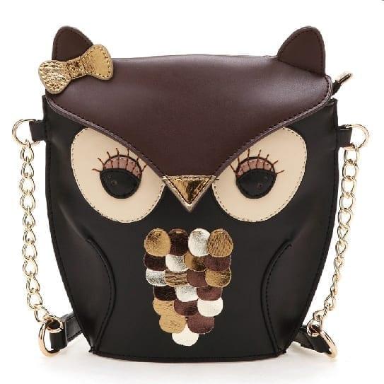 Owl Shoulder Bag Pu Leather Creative Cute Mini Messenger Bag