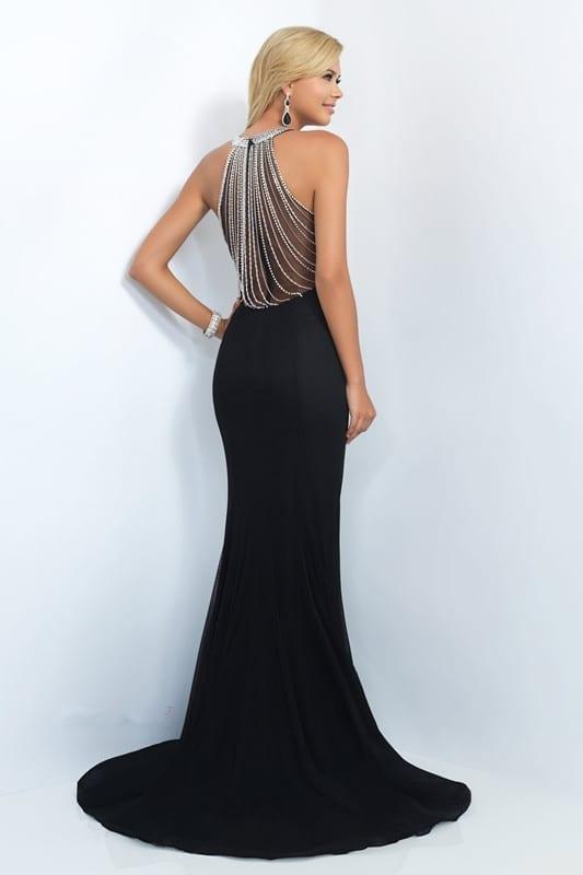 Black O-neck Sleeveless Floor Length Long Mermaid Evening Dress