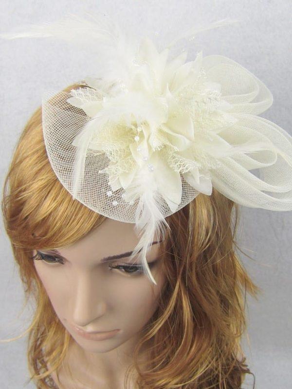 Beautiful Flower Wedding Hat For Bride