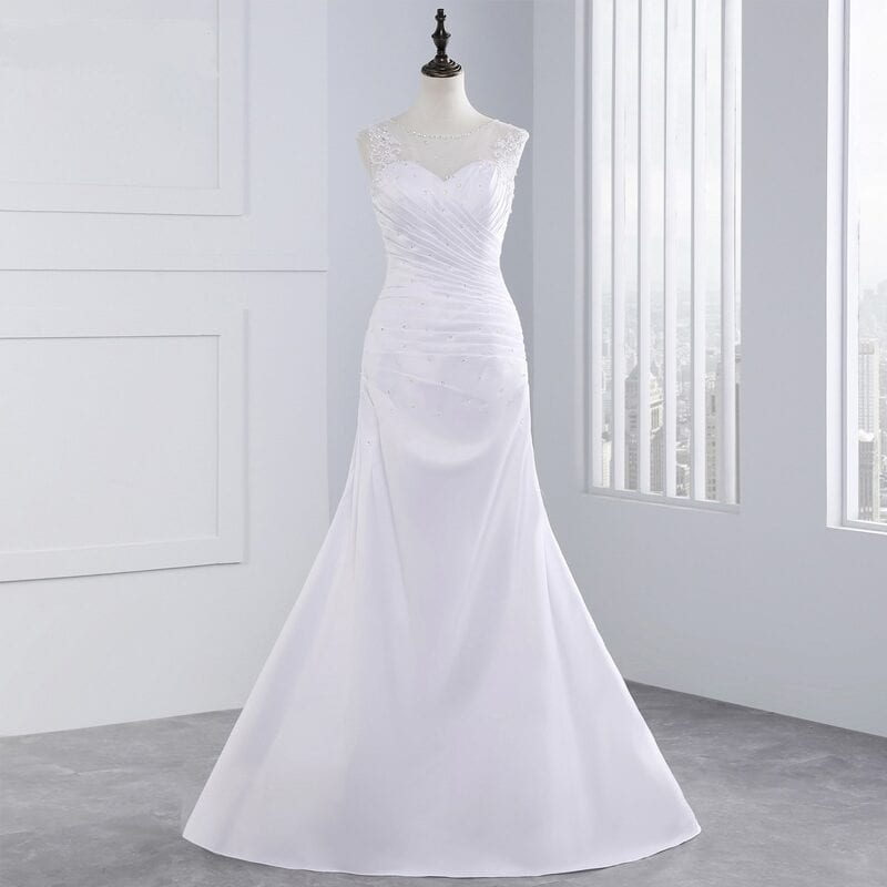 Elegant Appliques Beading Mermaid Wedding Dress