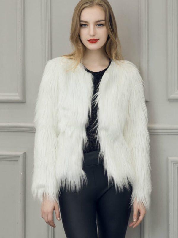 Chic Soft Faux Fur Coat