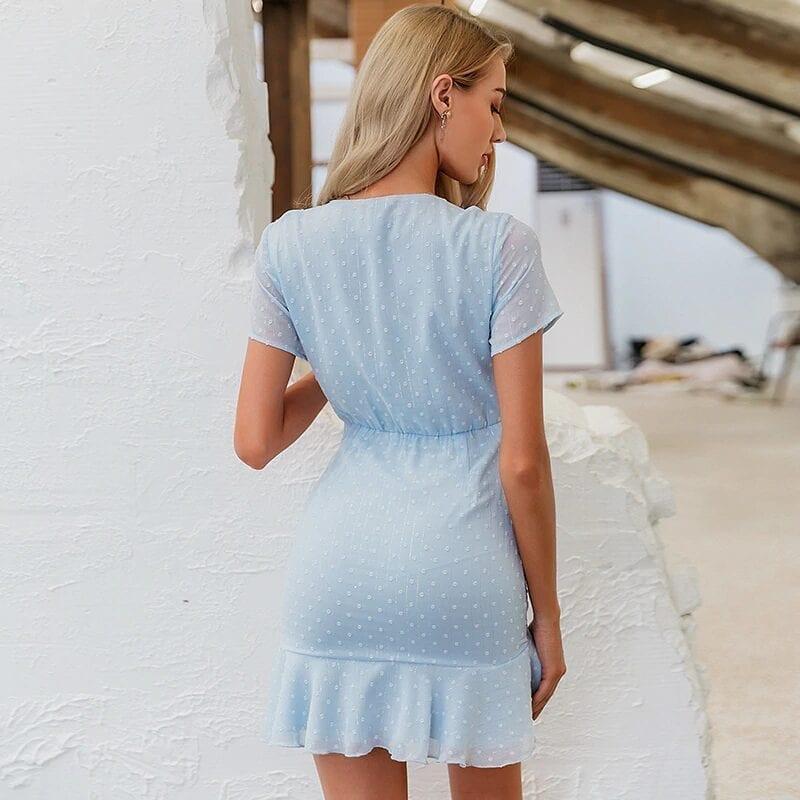 Polka Dot Blue Beach Dress