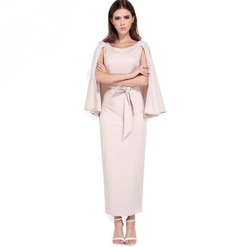 Elegant Backless Bodycon Boho Long Maxi Dress
