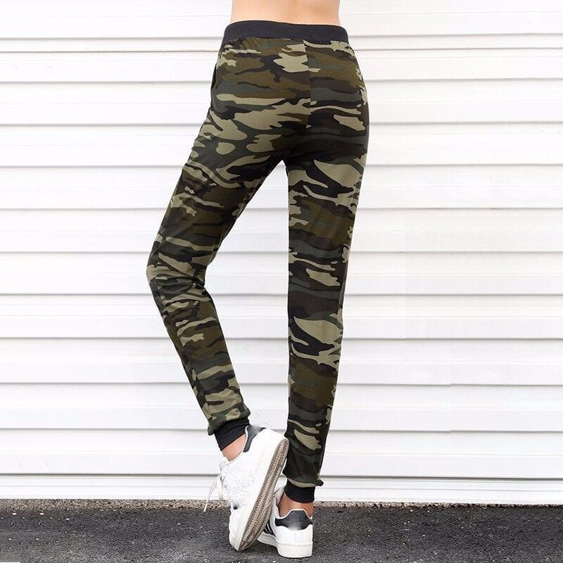 Camouflage Jogger Harem Loose Long Pants With Pockets