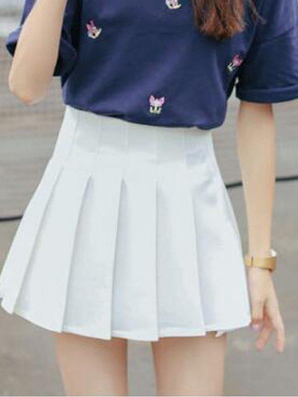 Elegant Half Pleated High Waist Mini Skirt
