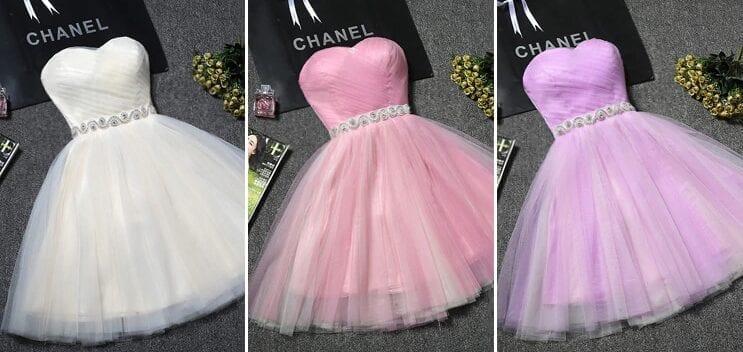 Princess Sweetheart Tulle Short Bridesmaid Dress
