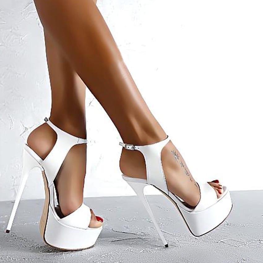 Peep Toe 16cm High Heels Sandals Women Shoes