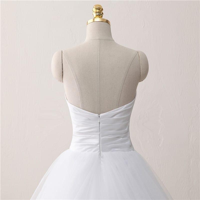Princess A Line White Wedding Dress