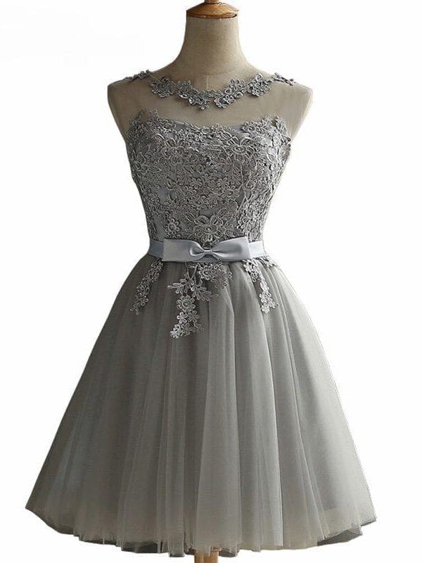 Elegant A-line Lace Sleeveless Mini Dress