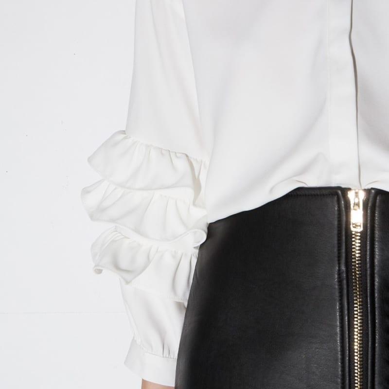 Loose Long Sleeve Vintage Ruffle Blouse Shirt