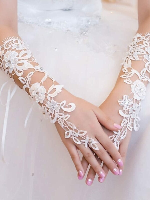 Fingerless Lace Bridal Gloves Wedding Accessories