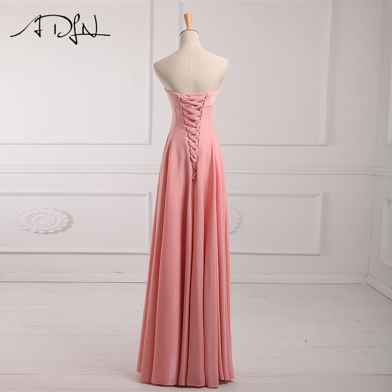 Strapless A-line Long Bridesmaid Dress