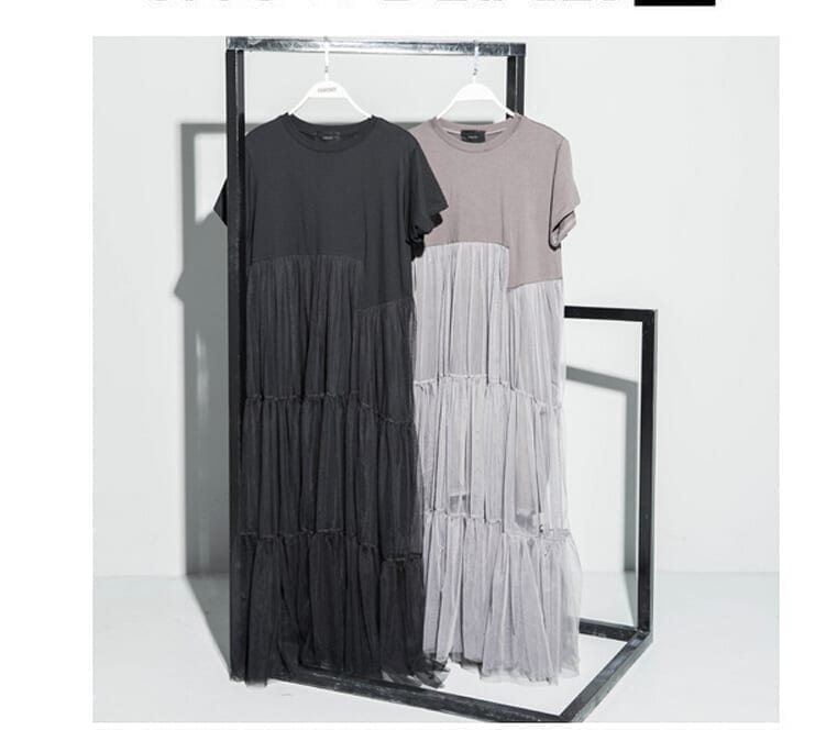 O-neck Short Sleeve A-line Loose Dress