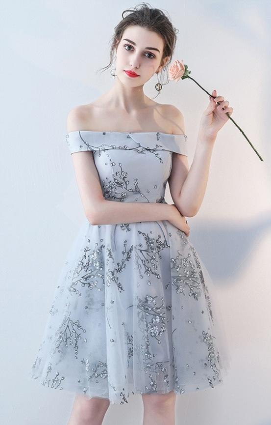 Flower Pattern Sashes Lace Knee Length Bridesmaid Dress