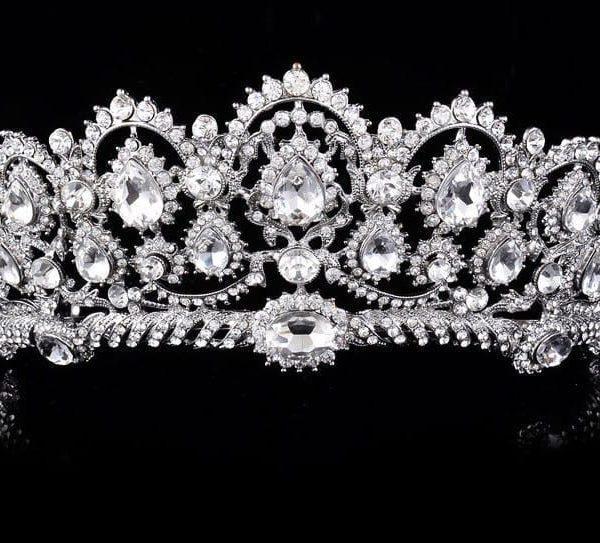 Vintage Tiara Rhinestone Crown Wedding Hair Accessories