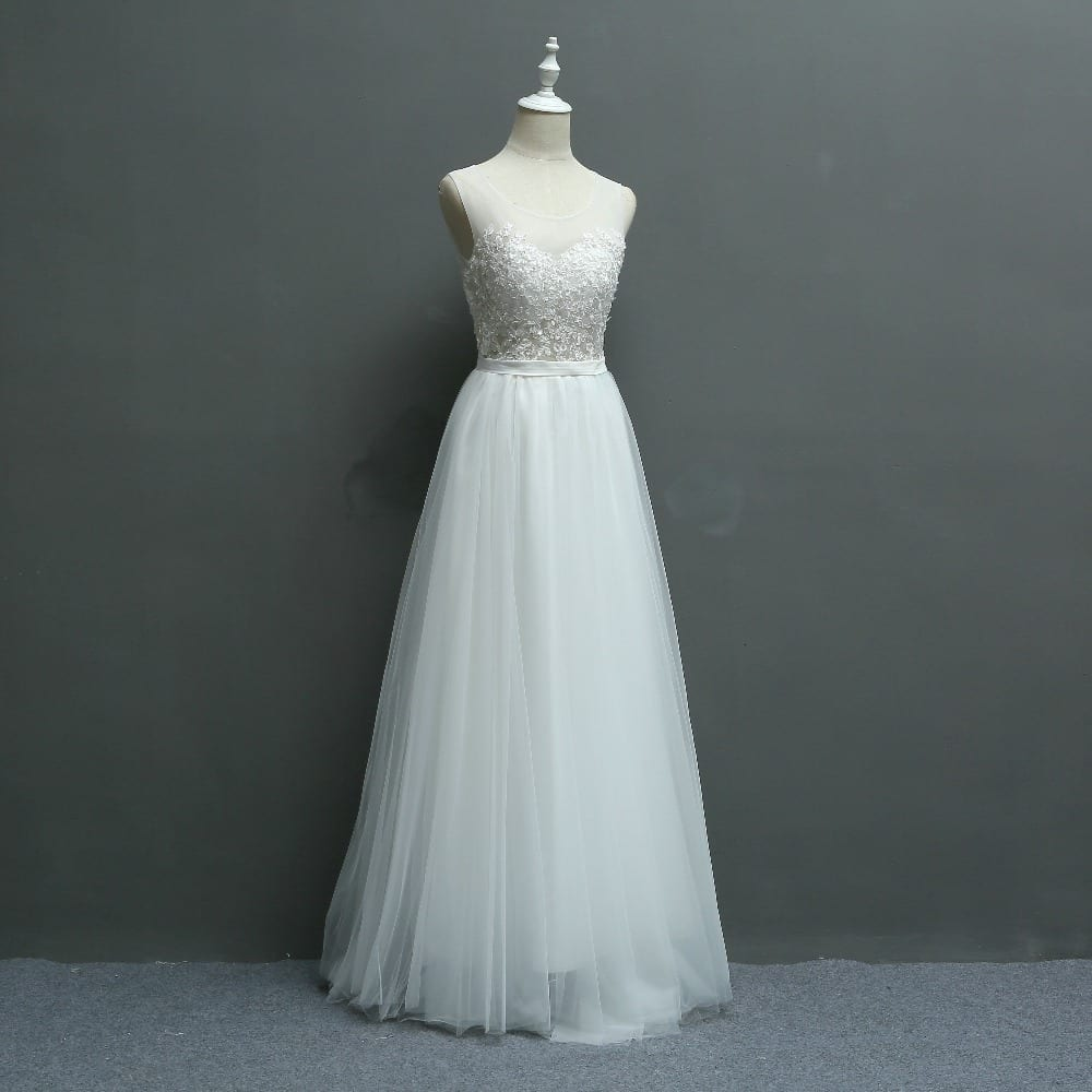 Embroidery Lace Wedding Bridesmaid Photograph Dress