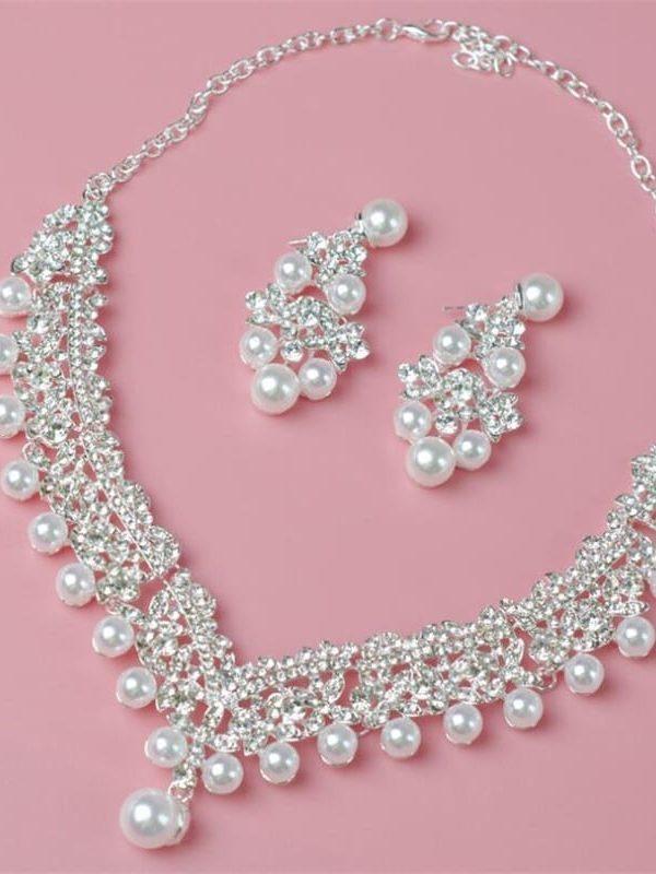 Pearl Wedding Bridal Jewelry Set