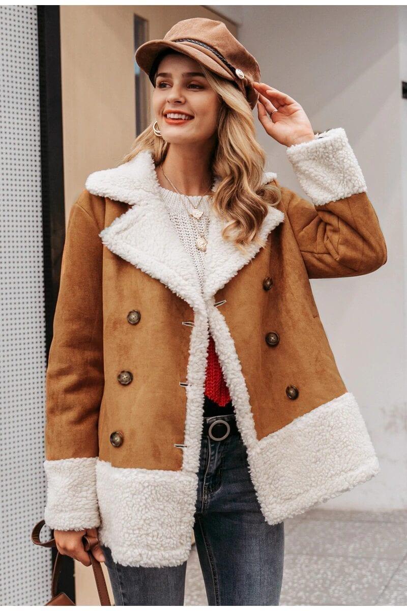 Vintage Suede Warm Outerwear Coat Jacket