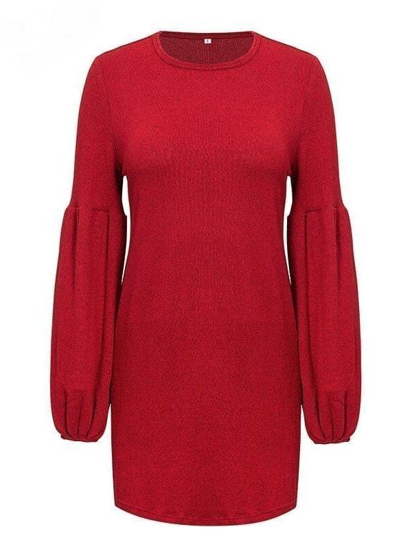 Vintage Lantern Sleeve Knitted Sweater