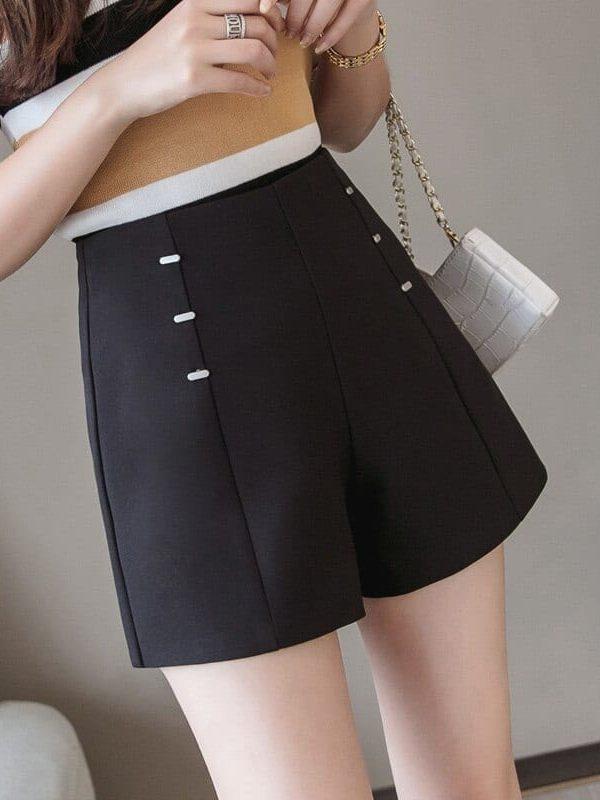 Elegant High Waist Wide Leg Loose Shorts