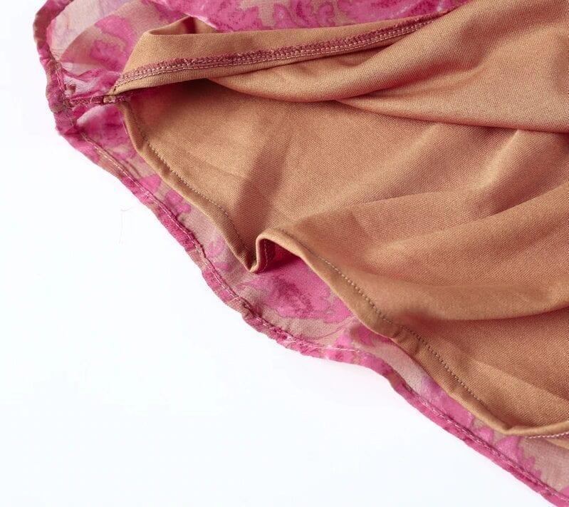 Backless Print Lace Up Floral Jumpsuit Romper