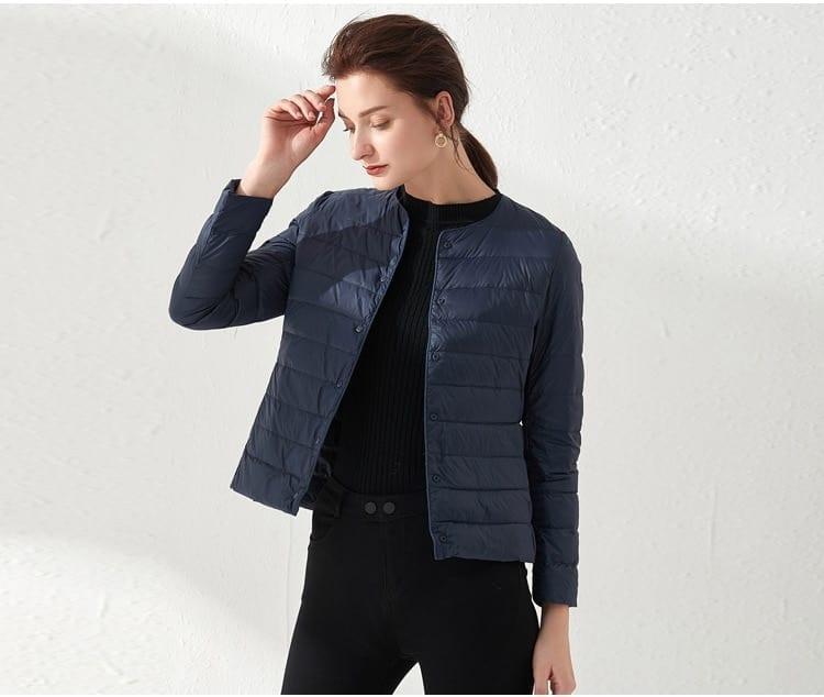 Ultra light duck down women matt fabric jacket