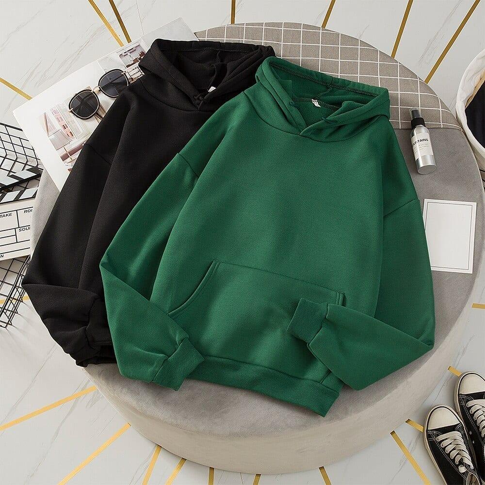 Oversize long sleeve hooded sweatshirt