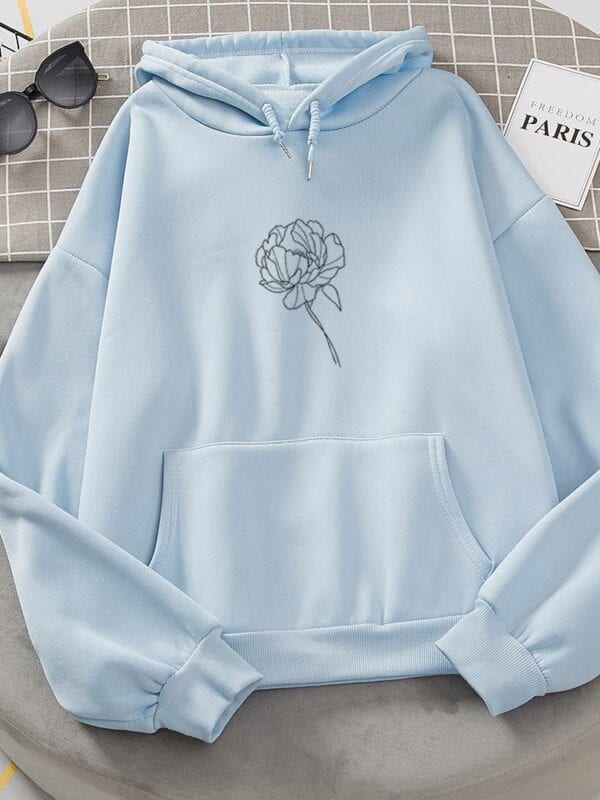 Long sleeve casual hooded oversized pullover