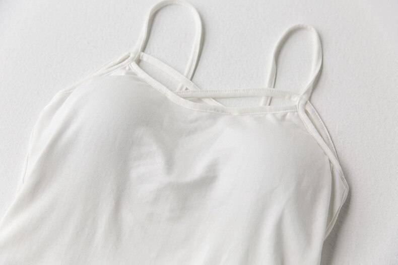 Cotton breast cross vest top