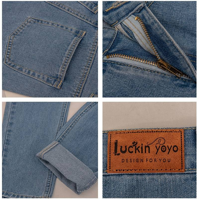 High waist push up large size jeans