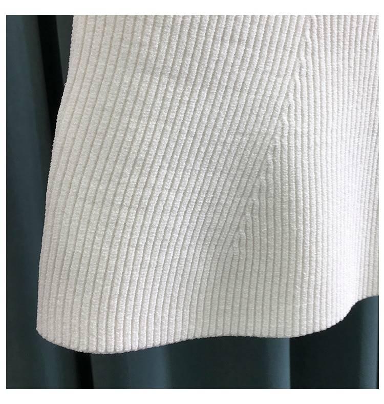 Sqaure collar sleeveless knitting pullover