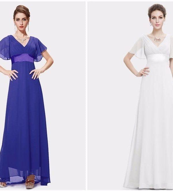 Glamorous double v-neck ruffles padded evening dress