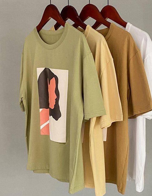 Character short sleeve printing t-shirt