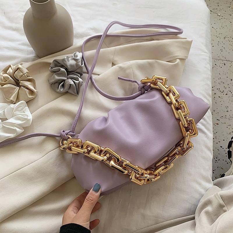Cloud soft leather single shoulder purse bag