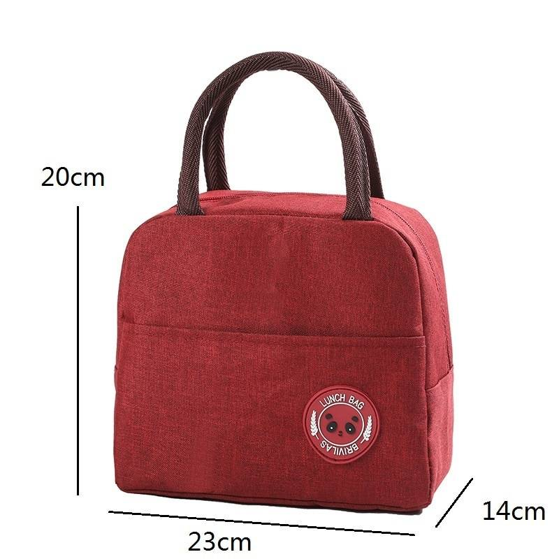 Fresh waterproof nylon portable zipper thermal oxford tote food lunch bags
