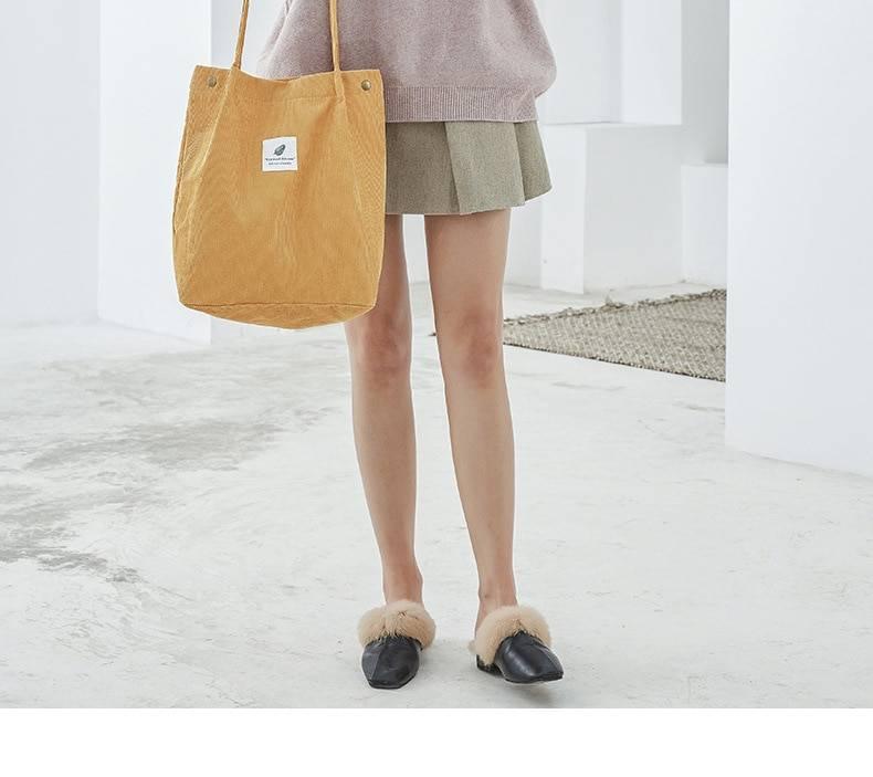Reusable shopping casual tote female shoulder bag