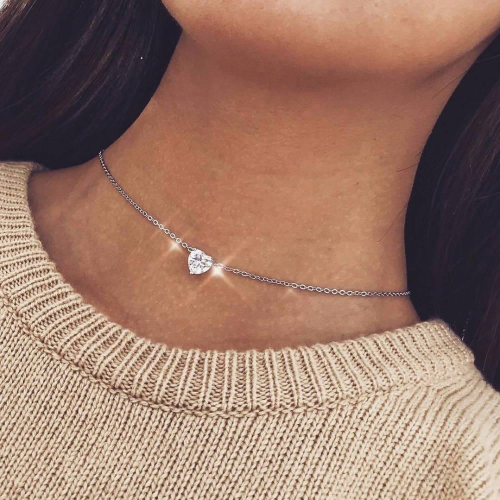 Bohemian heart choker necklace