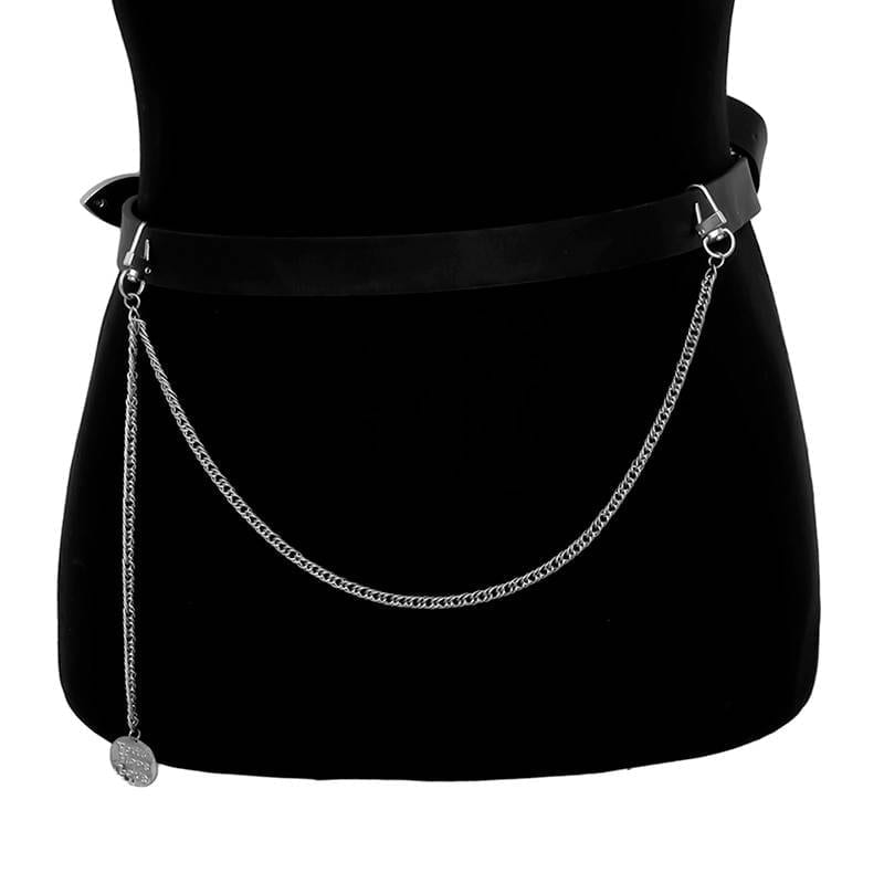 Punk hip-hop single/three layer key chain waist