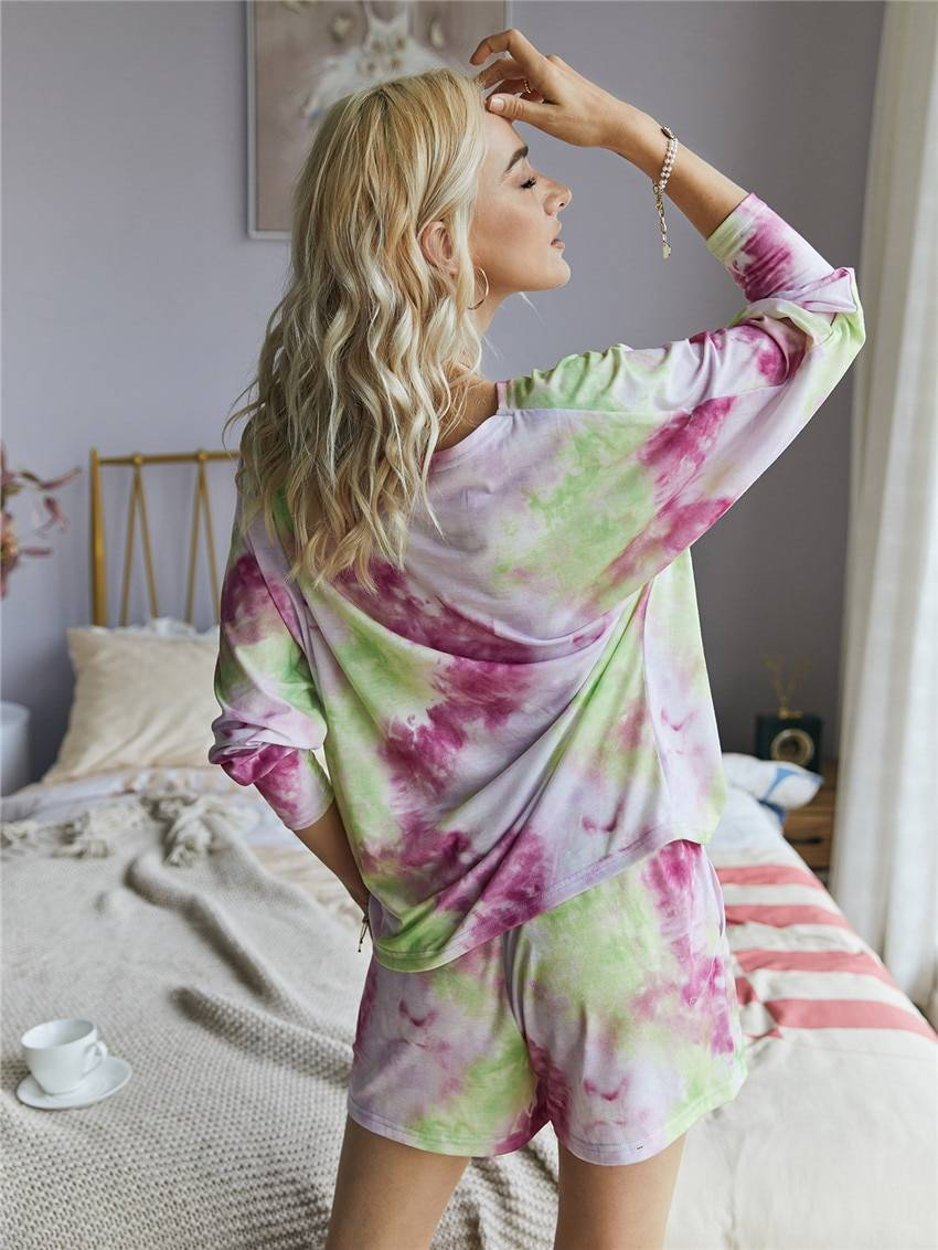 Print casual loose two-piece set