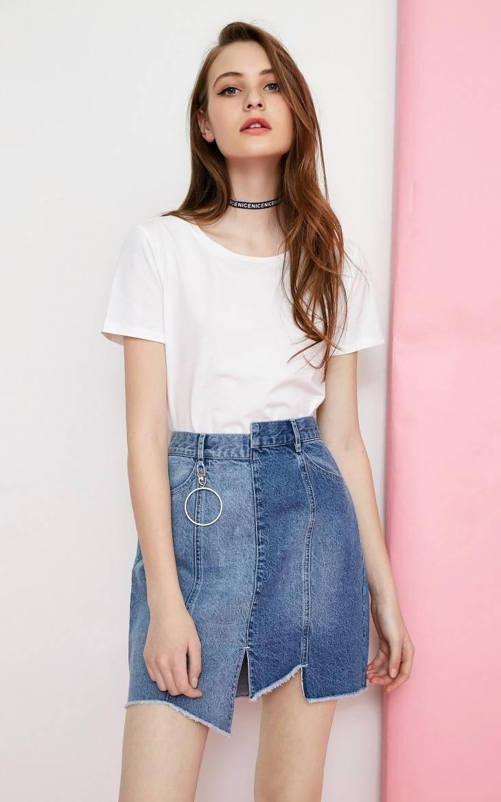 Cotton basic style minimalist t-shirt