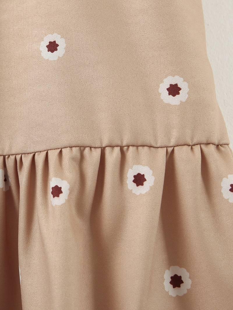 Floral print shirt midi dress