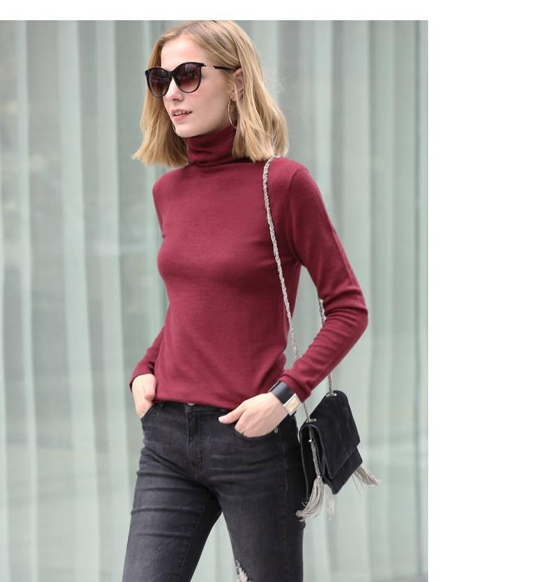Turtleneck full sleeve knit sweater